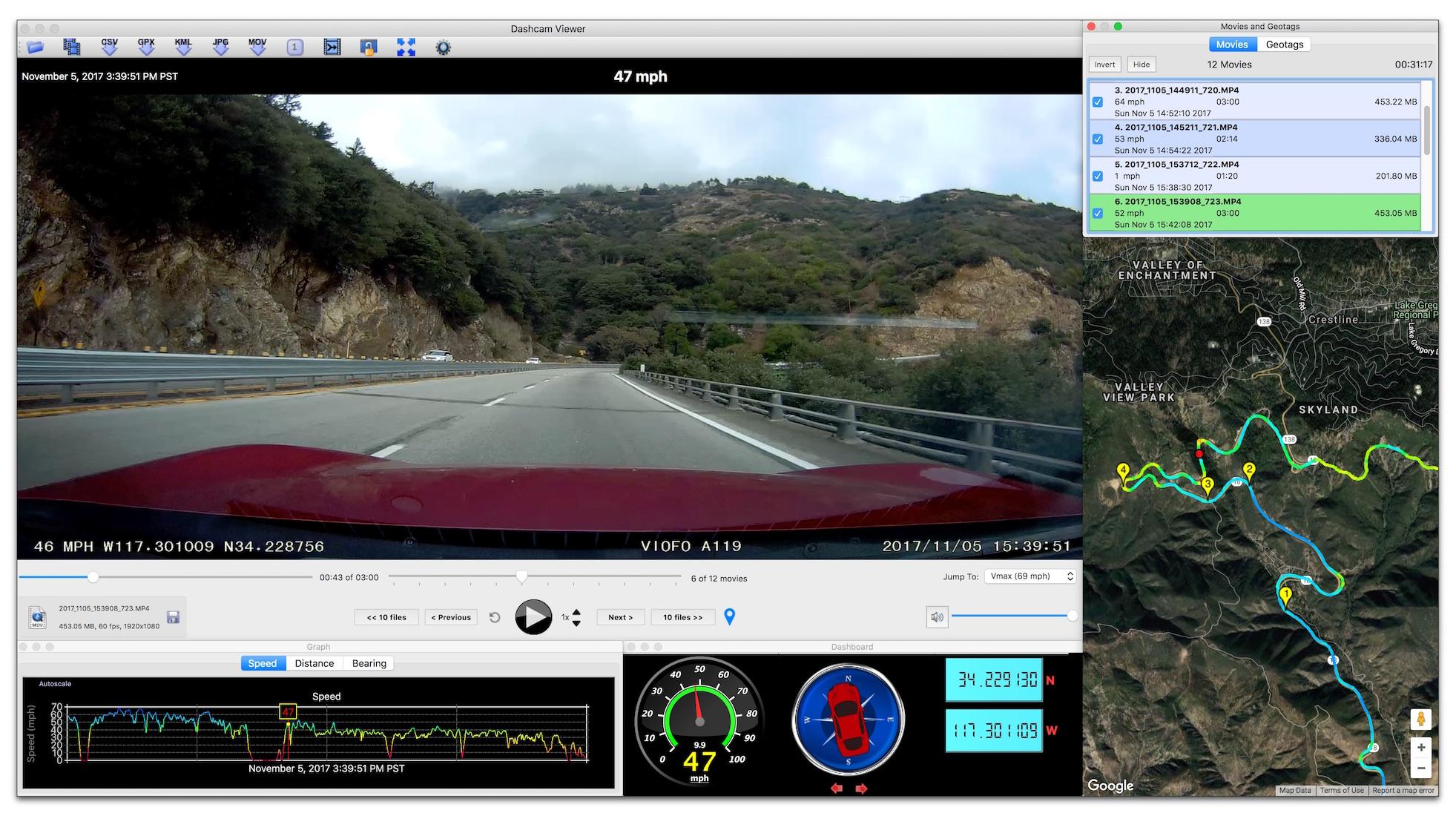 Dashcam Viewer By Earthshine Software